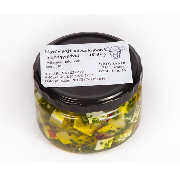 Natúr sajt (olívaolajban, lilahagymával) - 15 dkg