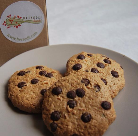 Bio kókuszos-csokis zabpelyhes keksz (vegán, laktózmentes) - 6 db