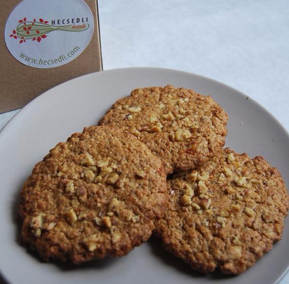 Bio narancsos-diós zabpelyhes keksz (vegán, laktózmentes) - 6 db