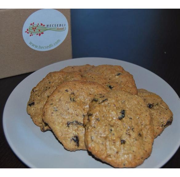 Bio aszalt szilvás zabpelyhes keksz - 6 db