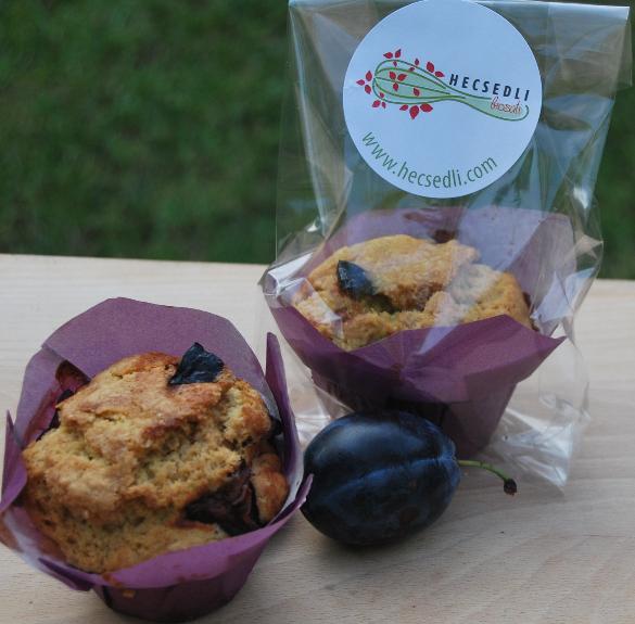 Bio fahéjas-szilvás muffin - 4 db