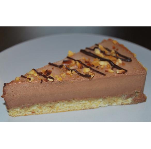 Bio mogyorós csokoládé mousse torta - Hecsedli - 18 cm