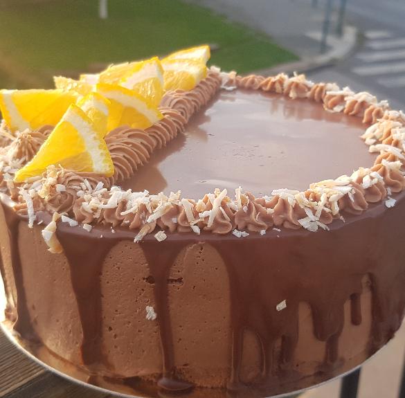 Bio narancsos csokoládétorta - Hecsedli - 18 cm