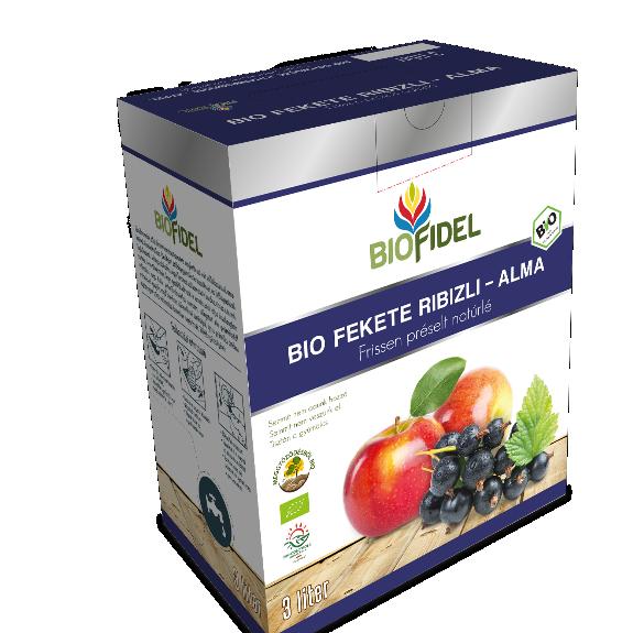 Bio alma-feketeribiszkelé - 3 liter