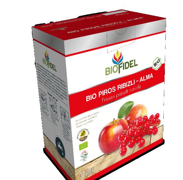 Bio alma-pirosribiszkelé - 3 liter
