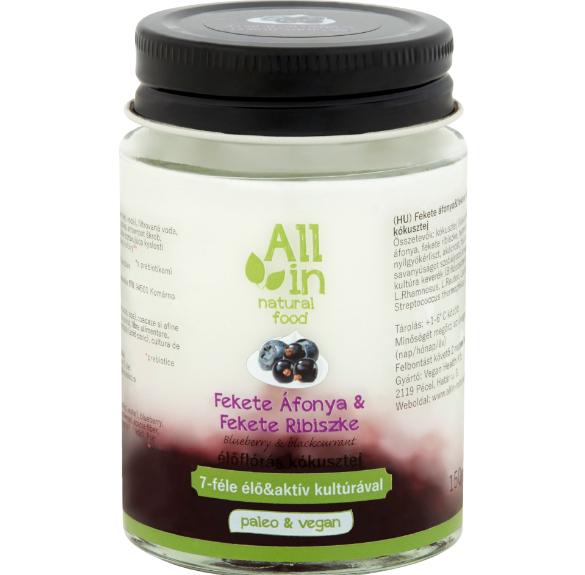 Fekete áfonyás - fekete ribiszkés kókusztejjoghurt - 150 ml