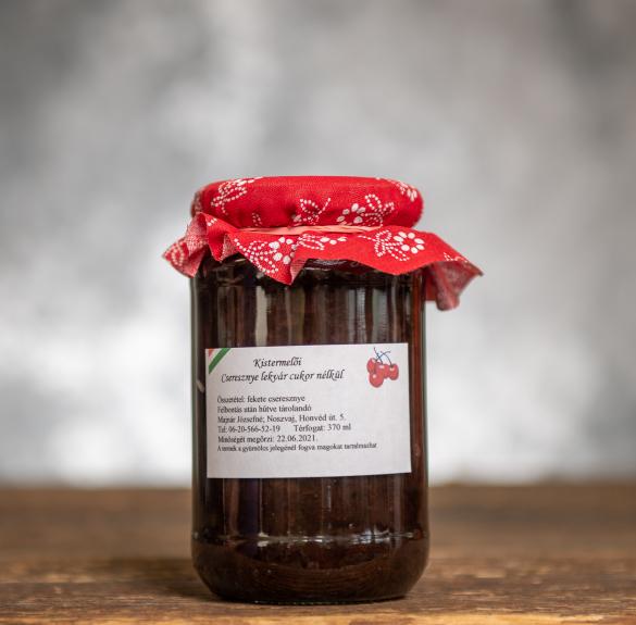 Cukormentes cseresznyelekvár - 370 ml