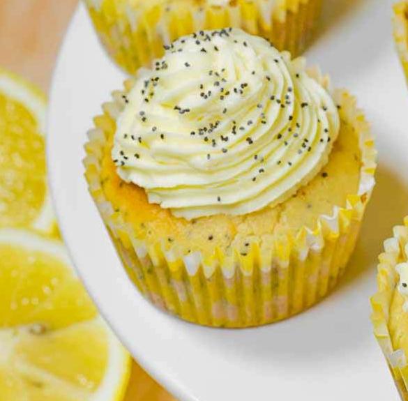 Bio citromos-mákos cupcake