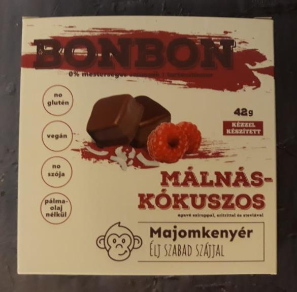 Vegán málnás-kókuszos bonbon - 42 g/ 6 db