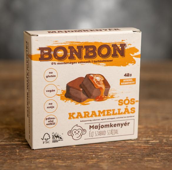 Vegán sós karamellás bonbon - 6 db