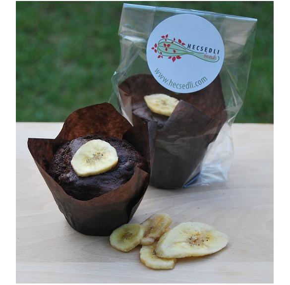 Bio banános csokis muffin - 1 db