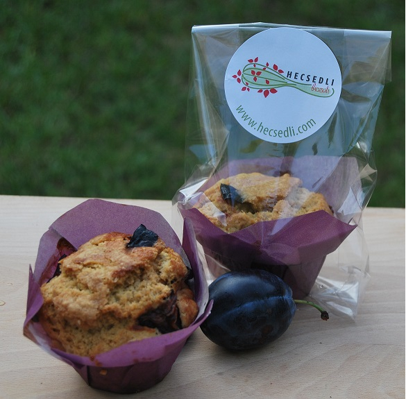 Bio fahéjas-szilvás muffin  - 1 db