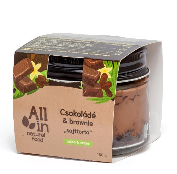 Csokoládés brownie sajttorta üvegben -130 g