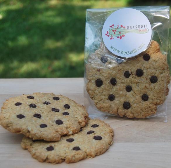Bio kókuszos-csokis zabpelyhes keksz (vegán, laktózmentes)- 2 db
