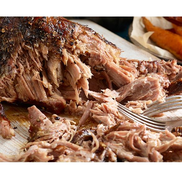 Konfitált tépett sertés (pulled pork) - kb. 50 dkg