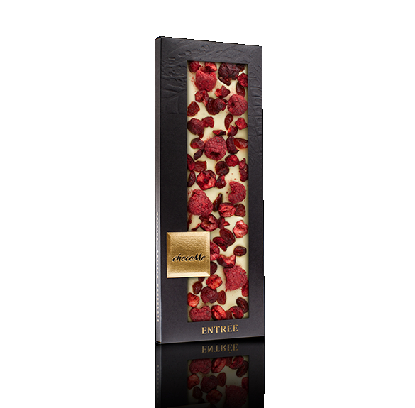 Liofilizált málnás, meggyes, vörösáfonyás fehércsokoládé - 110 g