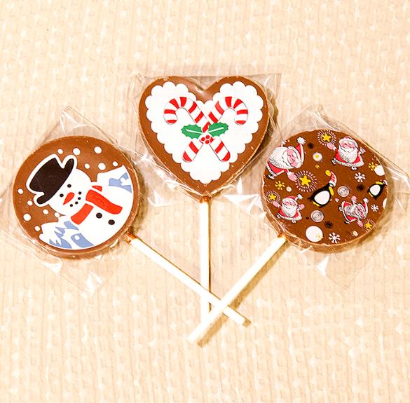 Karácsonyi csokoládés nyalóka