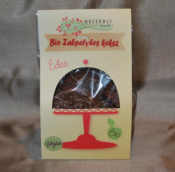 Bio kókuszos-kakaós zabpelyhes keksz (vegán, laktózmentes) 150 g