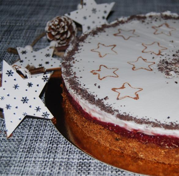 Bio kókuszos-meggyes torta- minden mentes