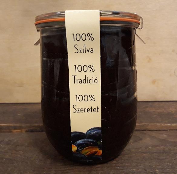 Szatmári szilvalekvár csattos üvegben - 1,2 kg