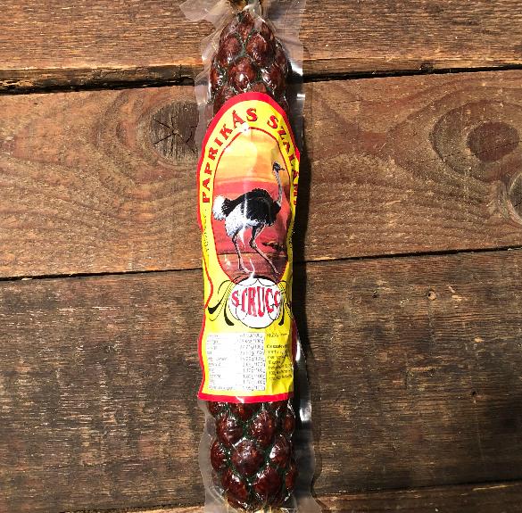 Paprikás strucc szalámi - kb. 50 dkg