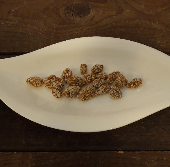 Szezámmagos földimogyoró karamellizált nádcukorral - 10 dkg