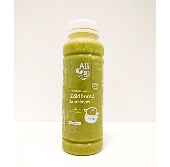 Paleo&vegán petrezselymes zöldborsó krémleves - 300 ml