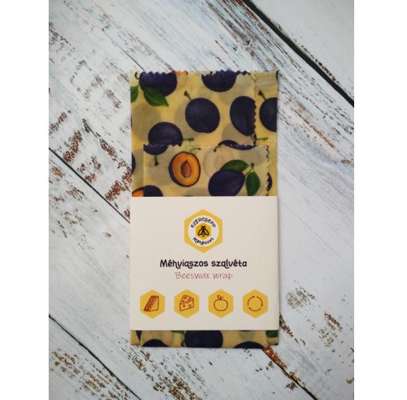 Szilva mintás méhviaszos szalvéta - 2 db/csomag