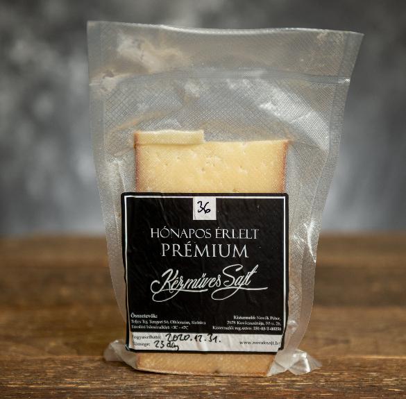 36 hónapos érlelt prémium kézműves sajt - 20,5-26 dkg