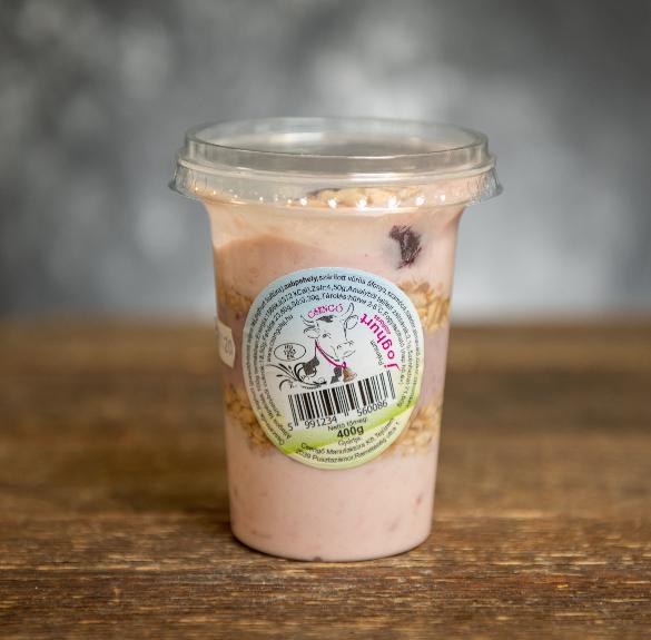 Prémium erdei gyümölcsös joghurt müzlivel - 400 g