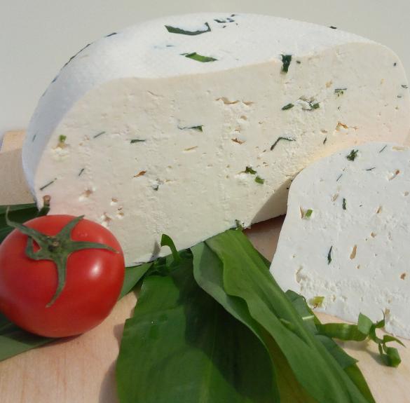 Medvehagymás friss sajt - kb. 20 dkg