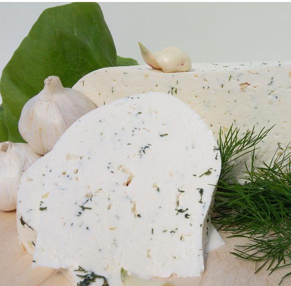 Kapros-fokhagymás friss sajt kb. 20 dkg