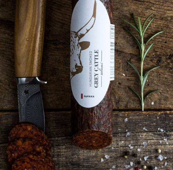 Szürkemarha paprikás szalámi sertéshússal - kb. 25 dkg