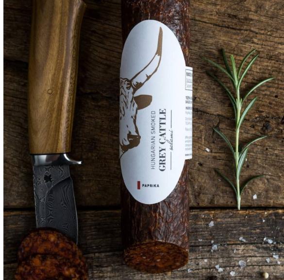 Szürkemarha csípős szalámi sertéshússal - kb. 25 dkg