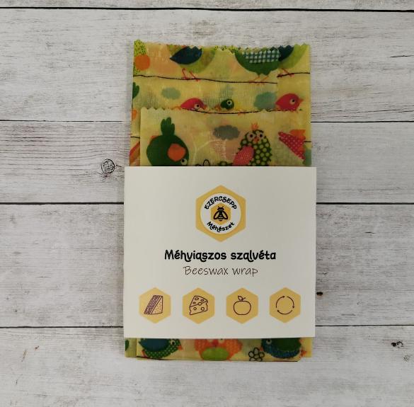 Madárkás méhviaszos szalvéta - 2 db/csomag