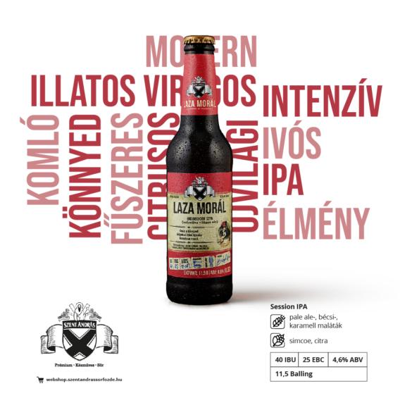 Laza Morál sör - 0,33 l