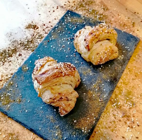 Zatar fűszeres teljeskiörlésű croissant - 2 db