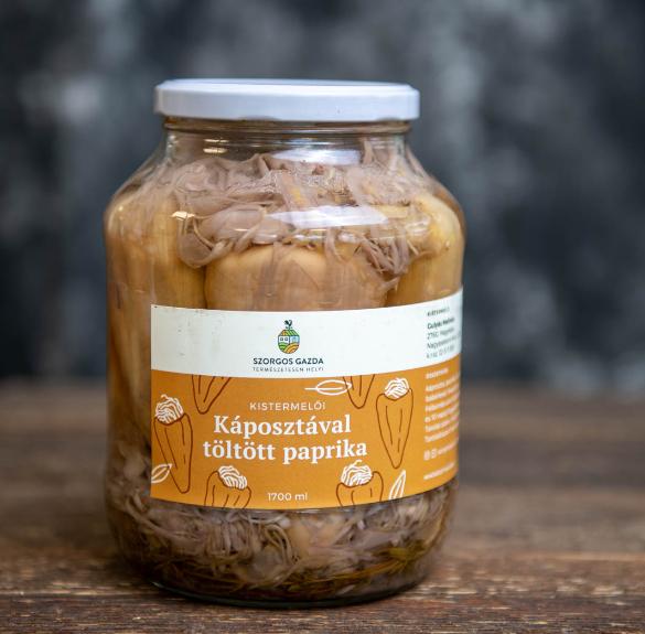 Káposztával töltött paprika-1700 ml