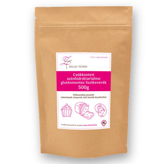 Zellei Tündi csökkentett szénhidráttartalmú lisztkeverék süteményekhez - 1 kg