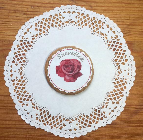 Mondd el mézeskaláccsal - Szeretlek rózsás - kb. 40 g