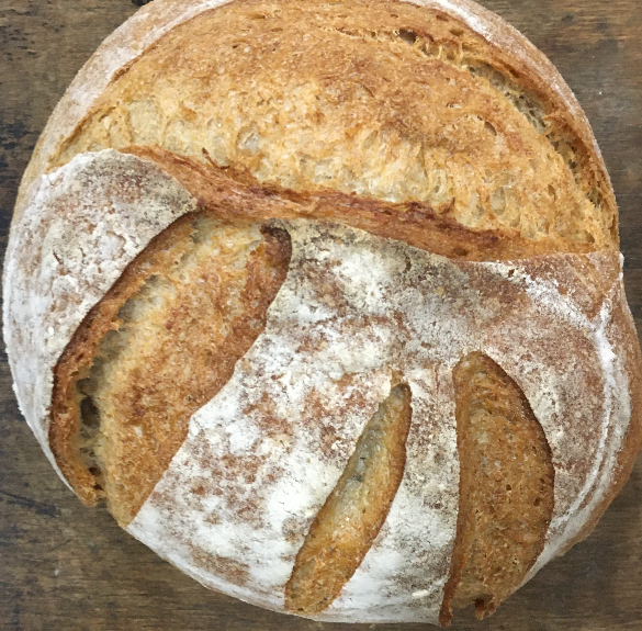 Félbarna kerek kovászos kenyér - 750 g