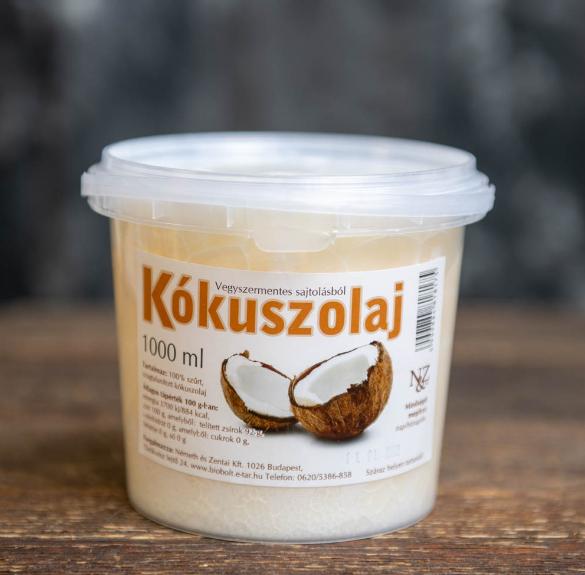 Vegyszermentes sajtolású Kókuszolaj - 1 kg