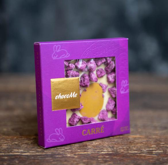 Húsvéti Choco me fehér csokoládé liofilizált kékáfonyával - 50 g