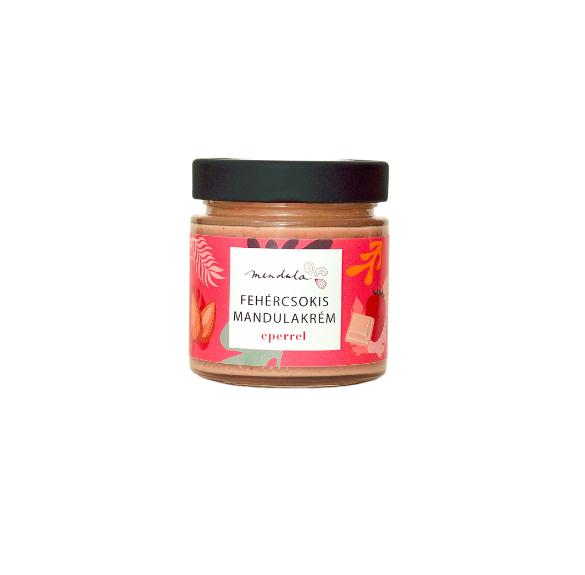 Fehércsokis mandulakrém eperrel - 180 g