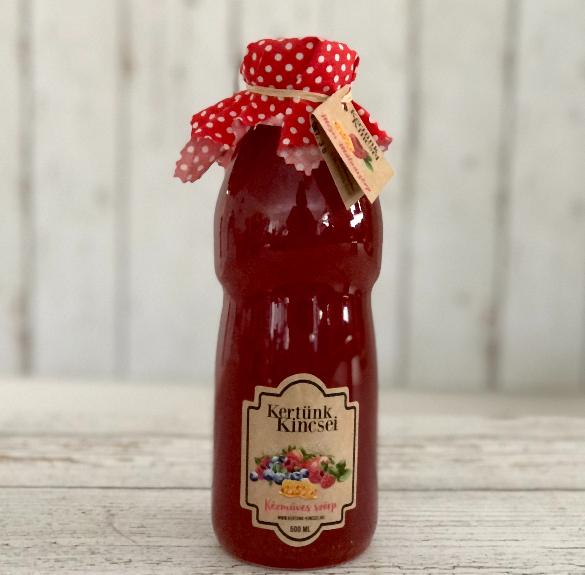 Selyemfű mézes málna szörp - 500 ml