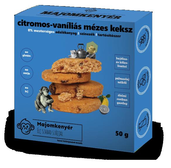Citromos-mézes keksz vaníliával - 50 g