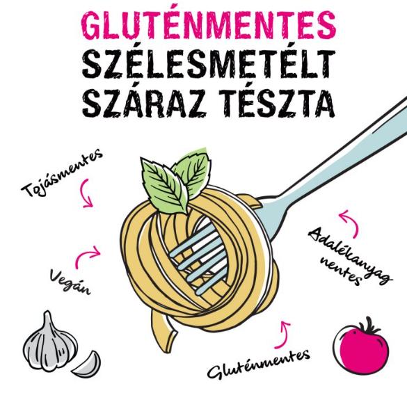Zellei Tündi gluténmentes szélesmetélt száraz tészta - 200 g
