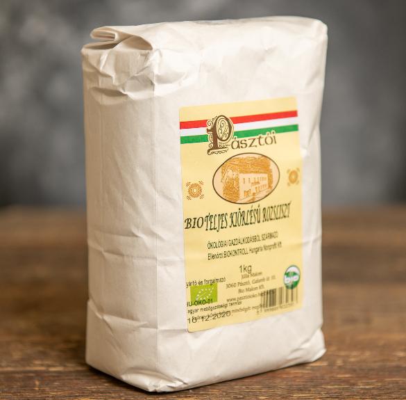 Bio teljes kiőrlésű rozsliszt - 1 kg