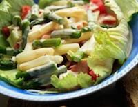 Spárgás saláta öntettel - 15 dkg