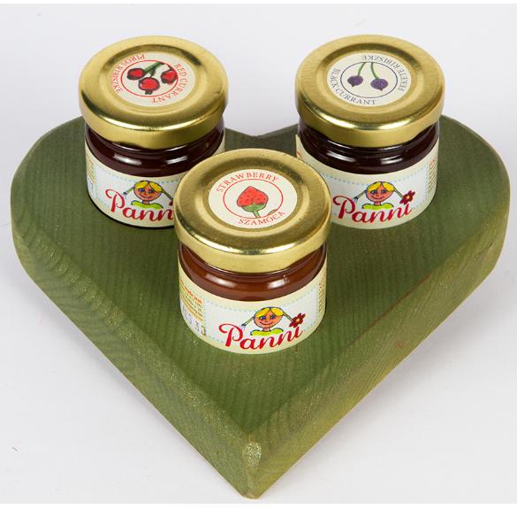 Minilekvár csomag szívben - 3 db